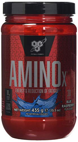 BSN Nutrition Amino X Muscle Building Support Powder Supplement with Vitamin D, Vitamin B6 and Amino Acids, Blue Raspberry, 435 g, 30 Servings