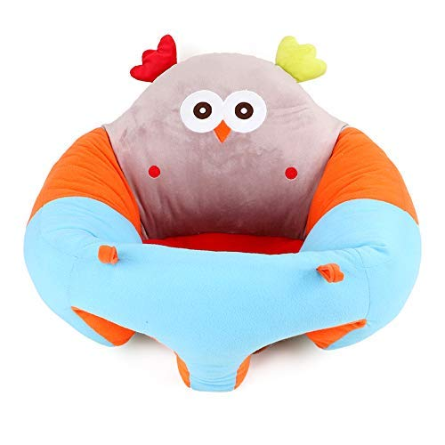 vocheer Baby Sitting Chair, Infant Support Seat Plush Soft Animal Shaped Portable Baby Sofa Comfortable for Newborn 3-16 Months(owl)