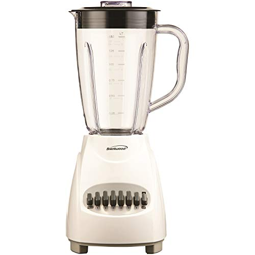 Brentwood Blender 12-Speed ​​+ Pulse، Plus، White