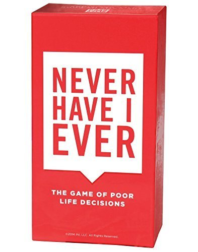 Never Have I Ever-The Game of Poor Life Decisions Card لعبة