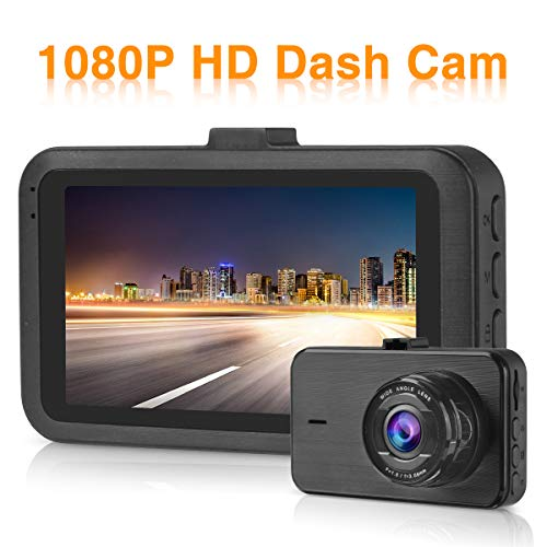 Dash Cams for Cars Front FHD 1080P 3 Inch Screen Car Camera 170° Wide Angle Night Vision Driving Recorder with G-Sensor Motion Detection Parking Monitor