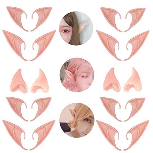 6 Pair Fairy Pixie Elf Ears for Halloween Christmas Cosplay by Kbraveo