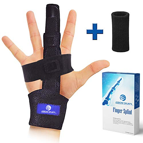 Arrow Splints Trigger Finger Splint | Mallet Finger Brace, Fractured or Broken Finger Straightener, Arthritis & Tendonitis Pain Relief - Immobilization Support for Index, Pinky, Ring, Middle Finger
