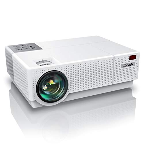 YABER Y31 Native 1920x 1080P Projector 7200 Lux Upgrade Full HD Video Projector، ± 50 ° 4D Keystone Correction Support 4K، LCD LED Home Theatre Projector متوافق مع الهاتف ، الكمبيوتر الشخصي ، صندوق التلفزيون ، PS4 (أبيض)