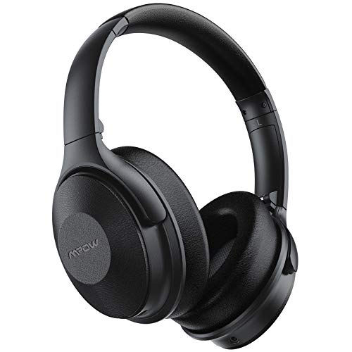 Mpow 45Hrs Active Noise Cancelling Headphones، H17 Bluetooth Headphones with Microphone، Over Ear، Quick Charge، Deep Bass، Wireless Headset for Kids، Adults، Travel، Online Class، Home Office