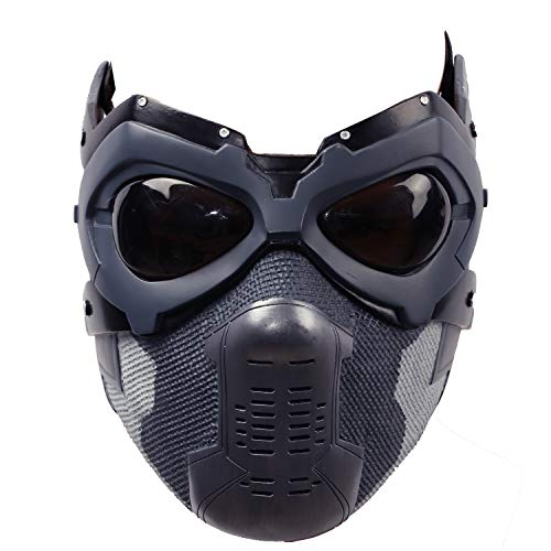 Bucky Mask Updated Winter Soldier Barnes Mens Cosplay Costume Accessory Xcoser Painted