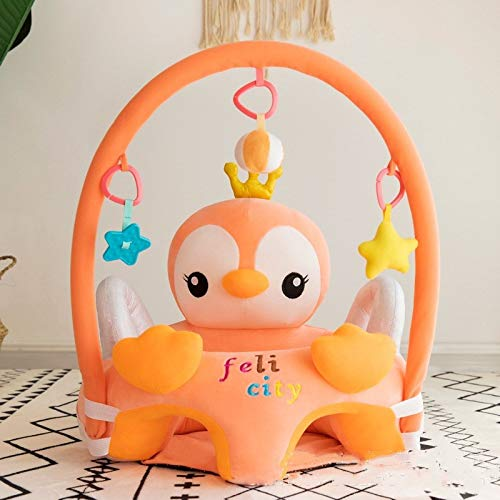 Comfortable Infant Soft Plush Floor Support Seat, Baby Learning to Sit Head Protect Chair with Stuffed Animal Toys, Portable & Soft Dining Chair Support for Play 3-16 Month Infants (Color : Bird)