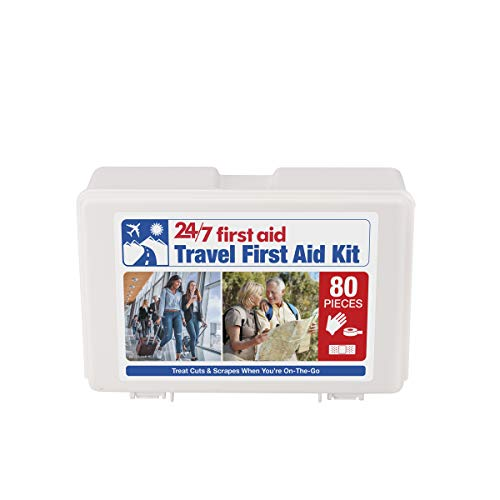 24/7 First Aid 80 Piece Travel First Aid Kit ، أبيض