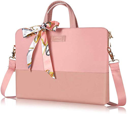 Kamlui Laptop Bag 15.6 Inch - For Women Men Carrying Computer Case Shoulder Messenger MacBook Pro Air؟ Pink؟