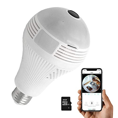 Light Bulb Camera?Dome Surveillance Cameras?Full HD 1080P Home 2.4GHz WiFi Camera with 16G SD card?360° Panoramic Camera?Home Baby?Pet Monitor