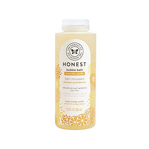 The Honest Company Everyday Gentle Sweet Orange Vanilla Bubble Bath Tear-Free Kids Bubble Bath With Naturally Derived Ingredients and Essential Oils Sulfate- and Paraben-Free 12 Fl. Ounces