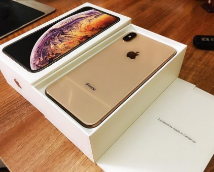 Used Apple iPhone x s max 256 gb gold new condition box with all accessories not with 9 months warranty and mint condition  for sale