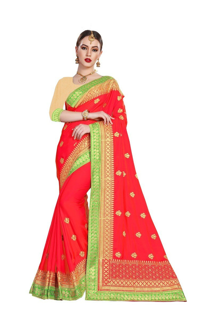 Ramita - Silk Embroidery Saree With Blouse