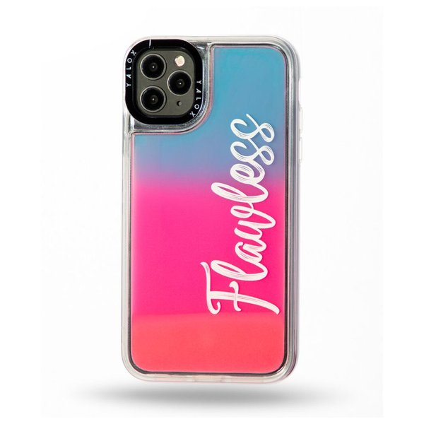 Yalox Flawless Print Case Neon Pink Blue iPhone 11 Pro Max