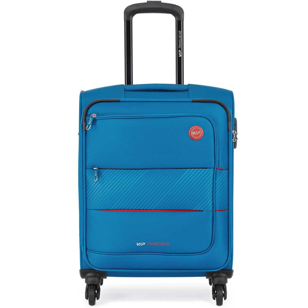 VIP California 4 Wheel Soft Trolley Cabin Bag Sky Blue, 79CM, CFONIA79BU