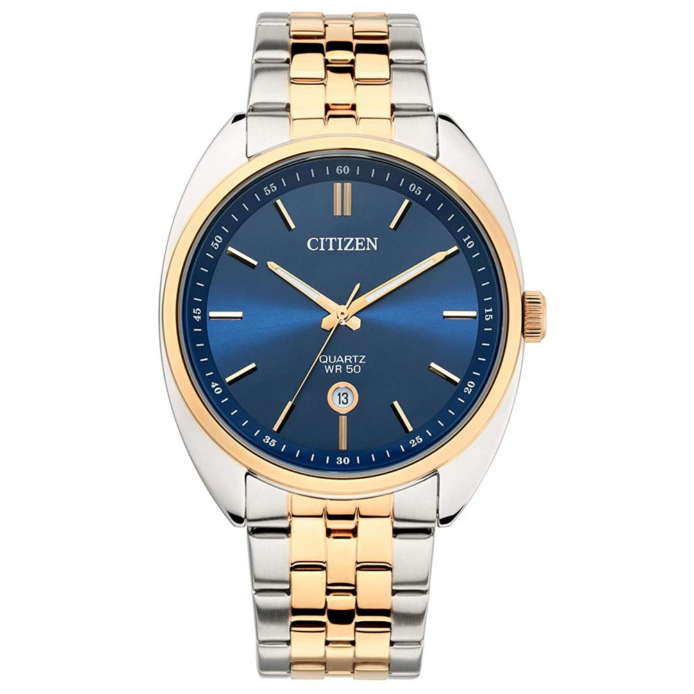 Citizen Quartz Analog Blue Dial Gents Watch, BI5096-53L