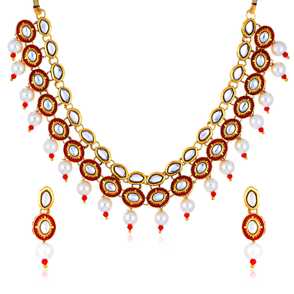 Sukkhi Appealing Gold Plated Necklace Set For Women