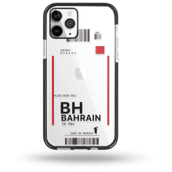 Yalox Bahrain Ticket Case Black iPhone 12