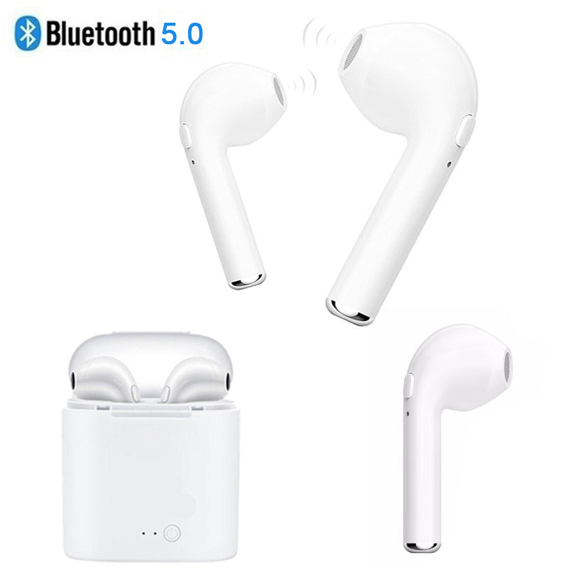 5.0 i7 s TWS Bluetooth Earphone for Apple iphone 5s 6 6s 7 8 x Samsung s8 s9 Xiaomi Huawei true wireless earbuds + شحن حوض