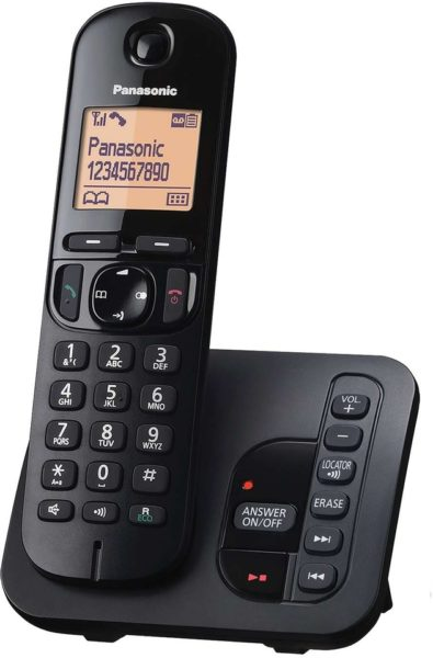 Panasonic KXTGH220 Cordless W/ Answering Machine Black
