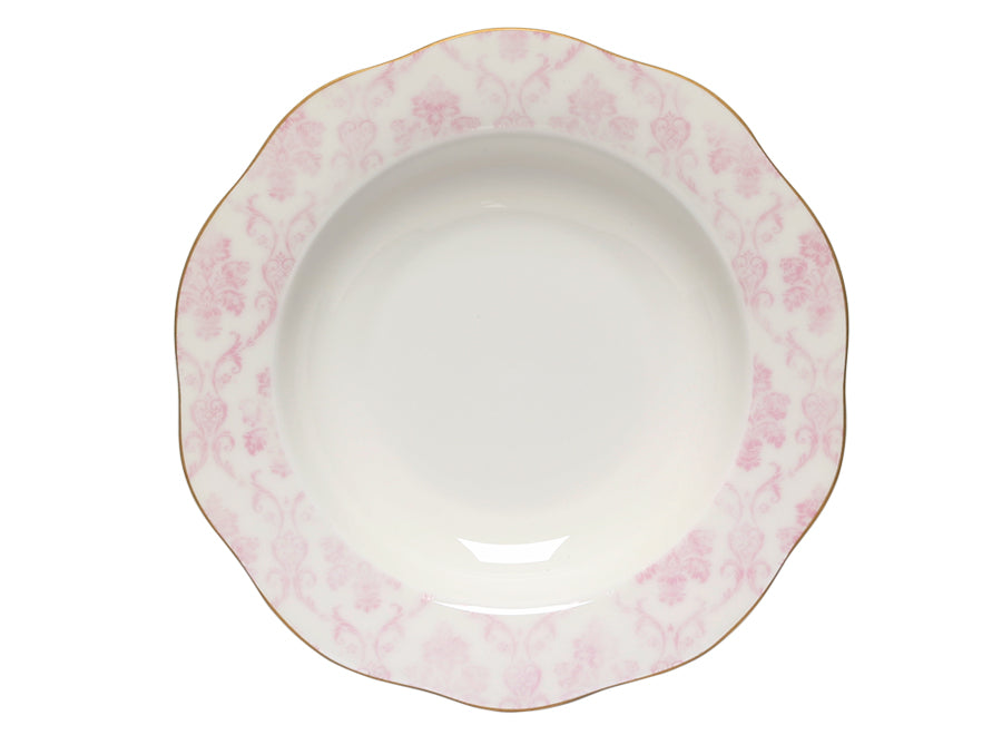 FLORAL DAMASK SOUP PLATE