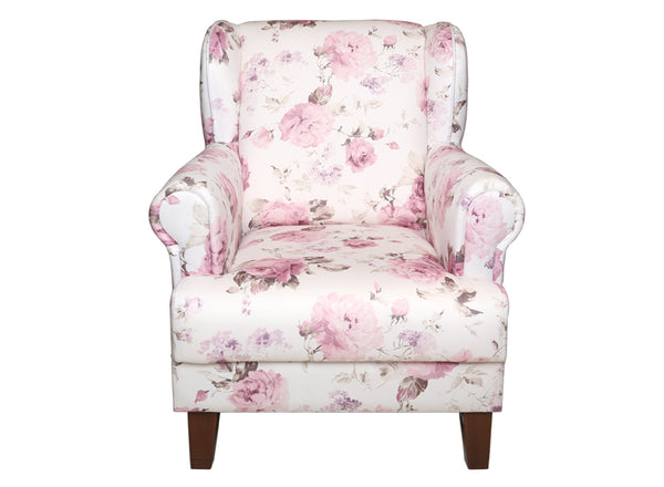 MELIS ARM CHAIR WHITE PINK