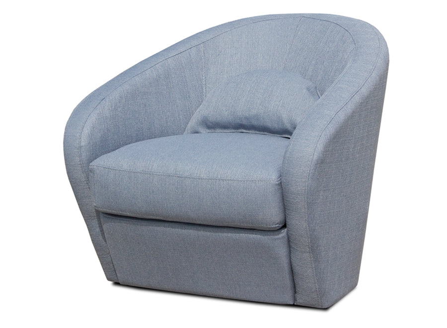 BB-EVANS ARM CHAIR/BLUE