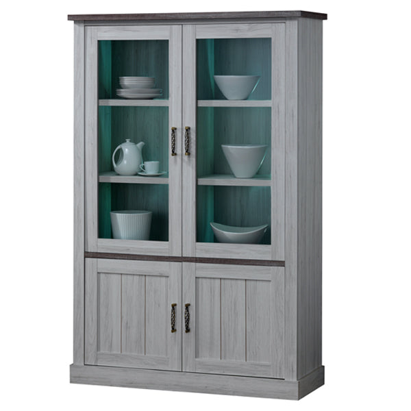 EMILY GLASS CABINET/GREY