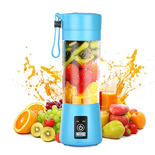 Geohee Portable Blender,Personal Blender,Smoothies Mini Jucier Cup USB Rechargeable and Personal Size Blender Shakes,380ml,Fruit Juice,Mixer