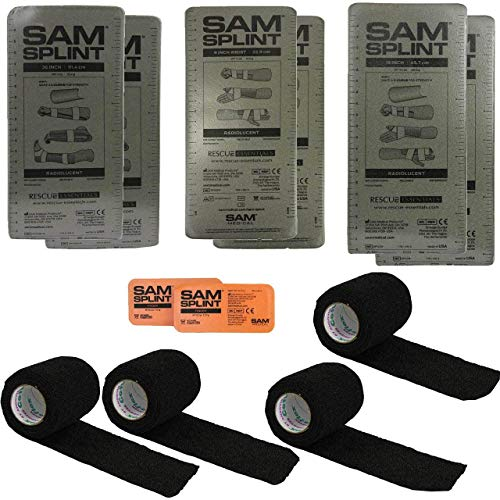 "حزمة SAM® Splint Combo (2-36 ""SPLINTS ، 2-18"" SPLINTS ، 2-9 ""SPLINTS ، 2 إصبع SPLINT ، 4 التفاف تماسك)"