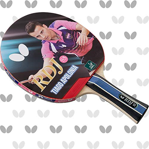 Butterfly RDJ S5 Shakehand Table Tennis Racket, RDJ Series, Offers An Ideal Balance Of Speed, Spin And Control, Recommended For Beginning Level Players