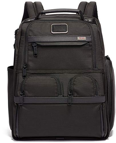 TUMI - Alpha 3 Compact Laptop Brief Pack - 15 Inch Computer Backpack للرجال والنساء - أسود