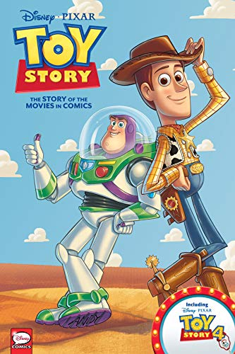 Disney-Pixar Toy Story 1-4: The Story of the Movies in Comics Hardcover - Illustrated، 1 Jan. 2020