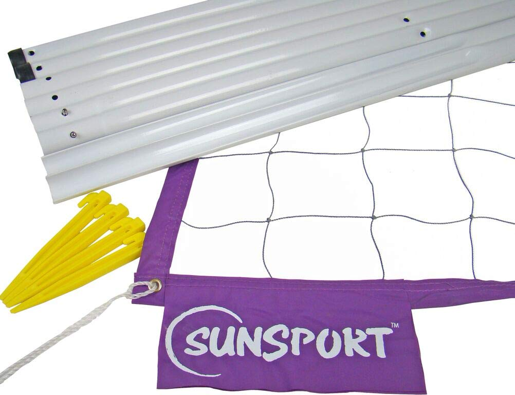 SunSport Volleyball Original Kit - Containing 1x Volleyball Net, 6 Poles, Extra Straps, Storage Bag and Rule Book