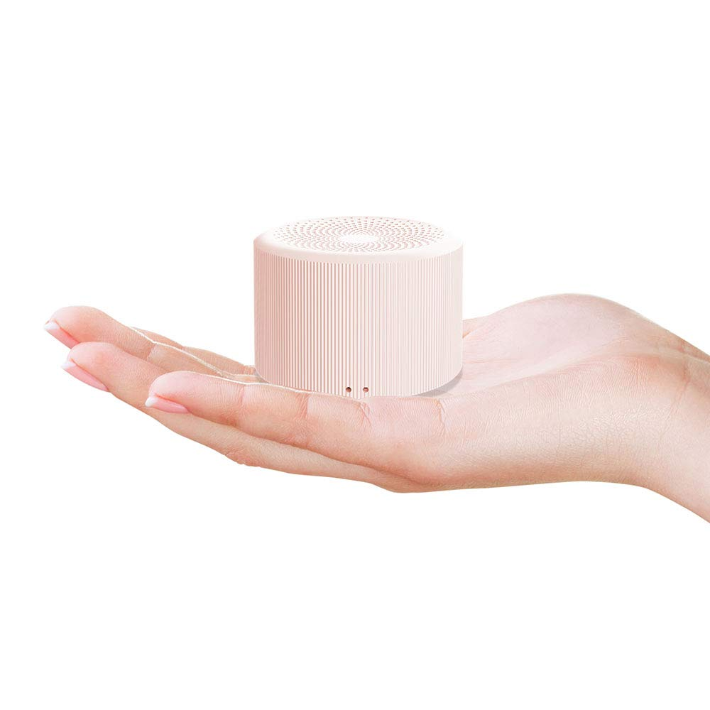 LENRUE Ultra Mini TWS Bluetooth Speaker for Kids، Boys Girls Musical Toys Gift، True Wireless Stereo Portable Bluetooth Speakers for Bedroom، Outdoor، Picnic، Travel (Pink)