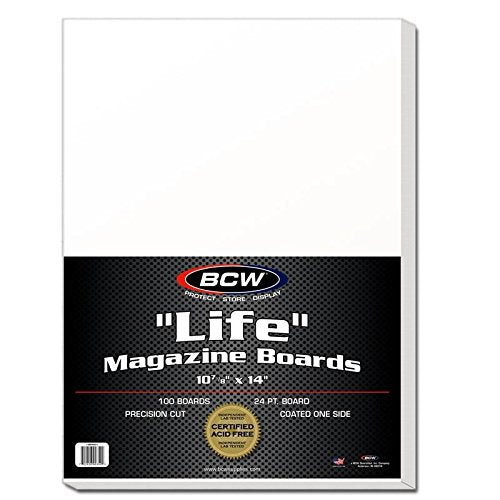 BCW BBMAG-L Life Size Magazine Back Boards White 100 Boards