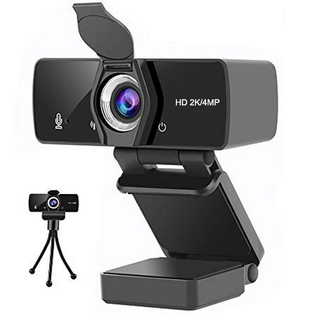MULY Webcam with Microphone for PC، 1440P HD Web Computer Camera with Privacy Shutter، Plug and Play USB Webcam for Conference، Video Calls، Youtube، Live Broadcast (1080P نسخة مطورة)
