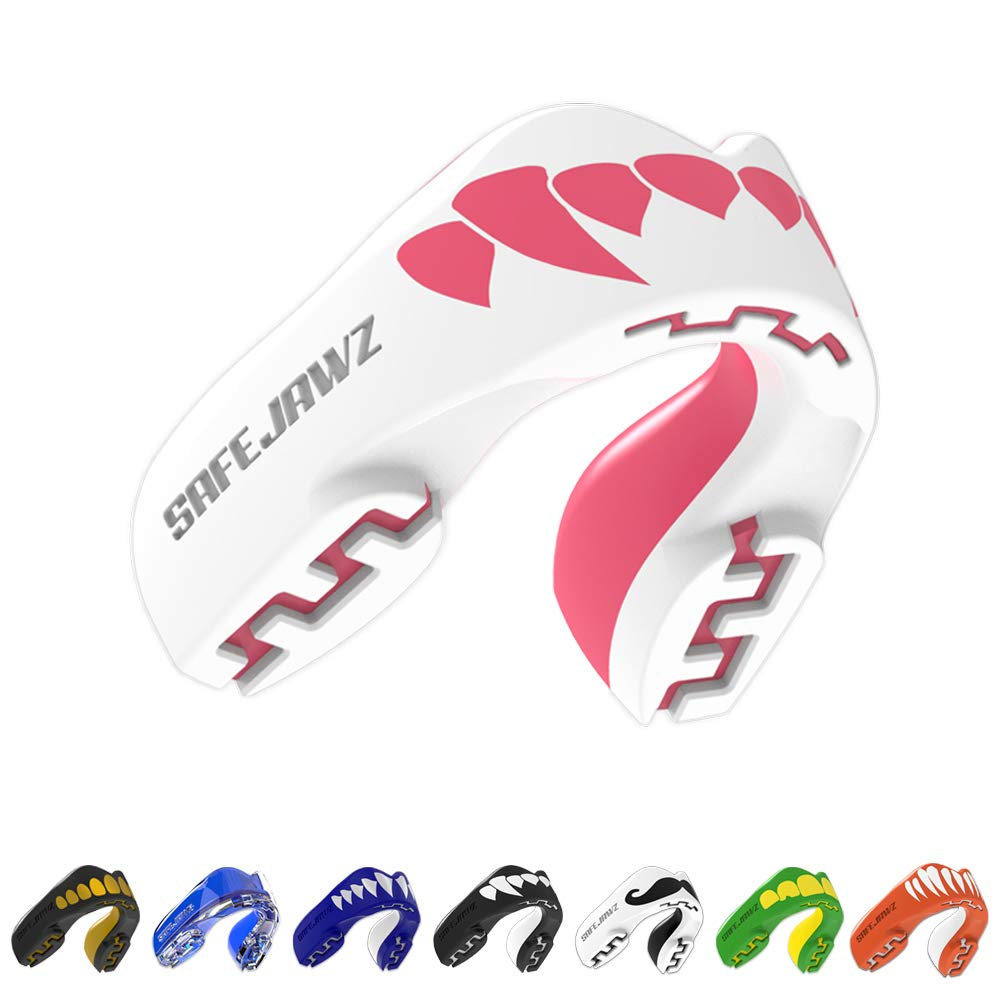 SAFEJAWZ Mouthguard Slim Fit, Adults and Junior Gum Shield with Case for Boxing, MMA, Rugby, Martial Arts, Judo, Karate, Hockey and all Contact Sports