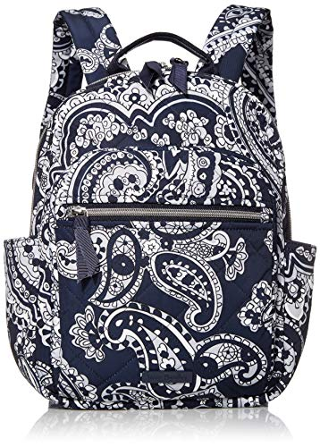 حقيبة ظهر Vera Bradley Women's Performance Twill الصغيرة ، Deep Night Paisley محايد ، مقاس واحد