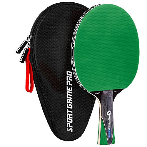 Ping Pong Paddle with Killer Spin + Case for Free - Professional Table Tennis Racket for Beginner and Advanced Players - Improve Your Ping Pong Skills with JT Ping Pong Paddle Set