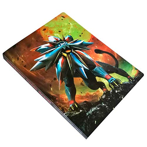 SKEIDO Pokemon Card Album Hold 160 Cards Pikachu Table Board Game Toys Accessories Cards Collection Book for Children -Black