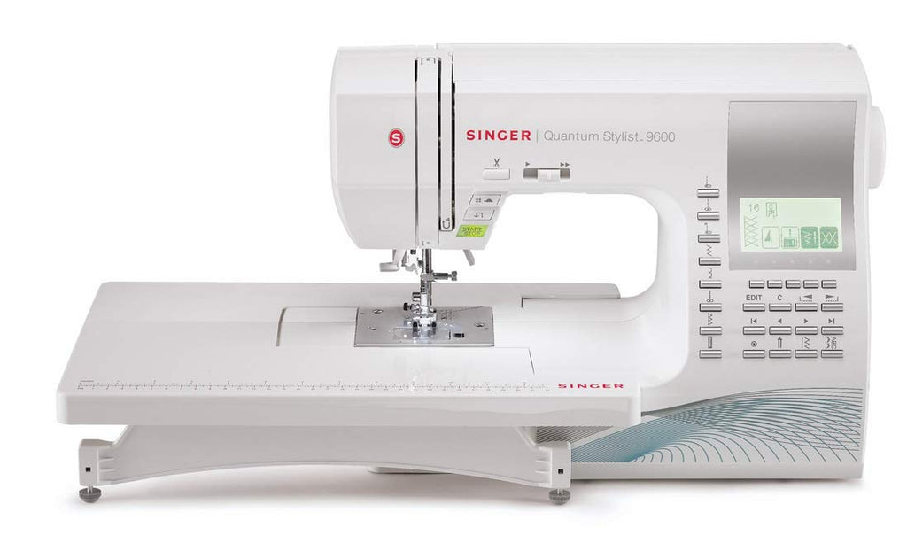 SINGER | Quantum Stylist 9960 Computerized Portable Sewing Machine with 600-Stitches, Electronic Auto Pilot Mode, Extension Table and Bonus Accessories, Perfect for Customizing Projects
