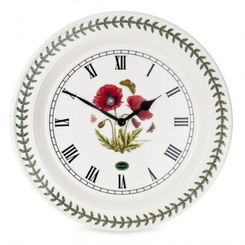 Portmeirion Home & Gifts Botanic Garden Poppy Wall Clock-Portmeirion ، متعدد الألوان