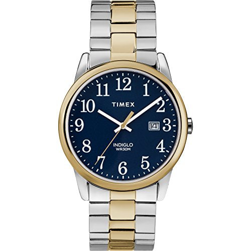 Timex Men's TW2R58500 Easy Reader 38mm Two-Tone Stainless Steel Expansion Band Watch
