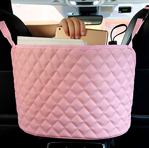 Car Net Pocket Handbag Holder, Seat Back Net Bag, Handbag Holder for Car, Driver Storage Netting Pouch, Barrier of Backseat Pet Kids (G)
