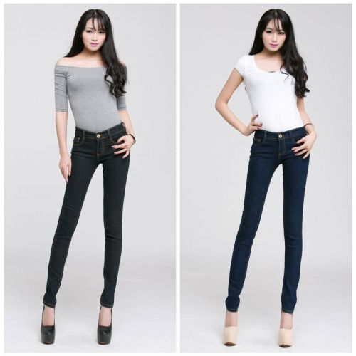 Eye-Catching Blue & Black Women Jeans