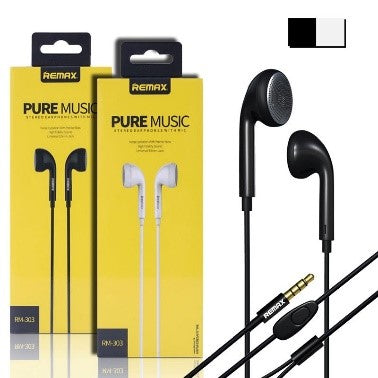 Remax Pure Music Stereo Earphones With Mic Rm-303