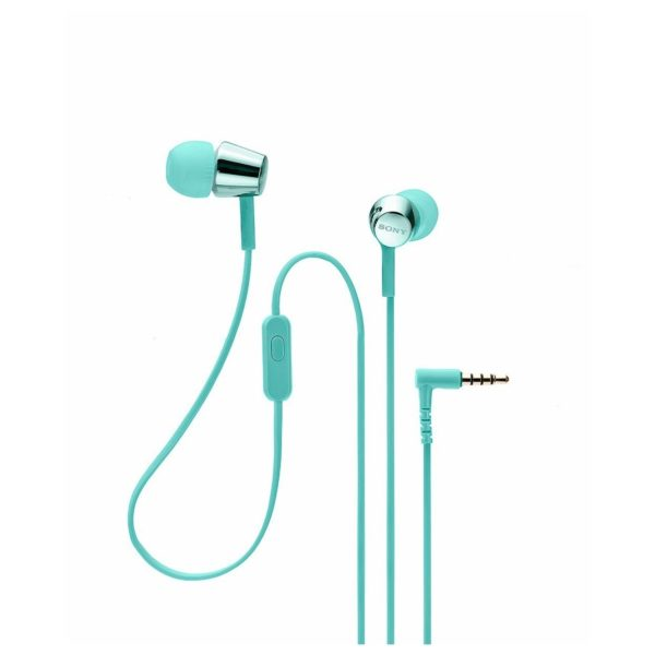Sony In-Ear Headphones with Mic Blue MDREX155APL