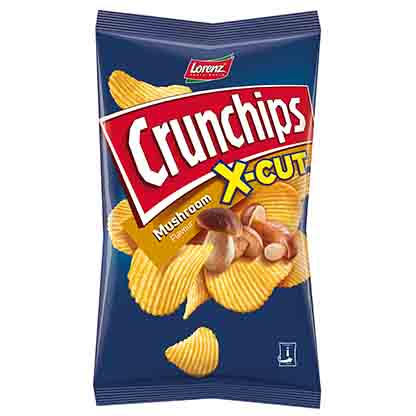 LORENZ CRUNCHIPS X-CUT 85GM ASST       L451