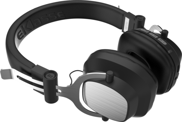 Eklasse EKBTHP03 Bluetooth Headphone Black/Silver W/ Mic